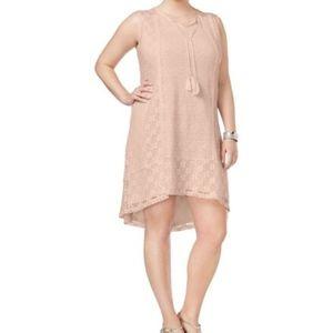 Style & Co Plus Size Lace Peasant Dress NWT Sz 2X